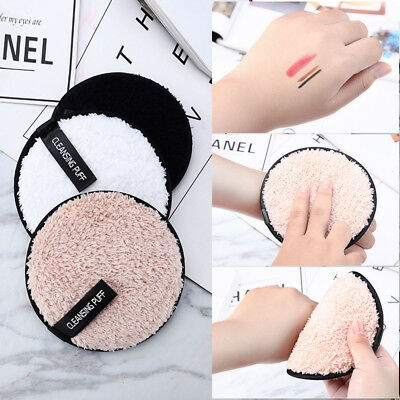 Reusable Cleansing Cloth Pads Plush puff Face Cleaner Makeup Remover Towel