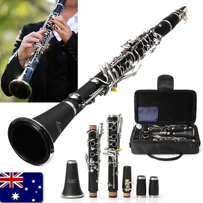 LADE NEW Bb CLARINET BLACK WITH CASE SCHOOL STUDENT QUALITY REEDS CASE BLACK Q1Q
