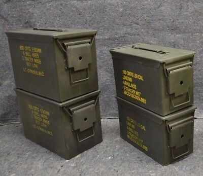 ( 4 Pack ) Combo 50 Cal/Fat 50 AMMO CAN VERY GOOD CONDITION - FREE SHIP.