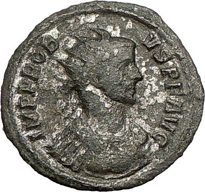 PROBUS 281AD Silvered Ancient Roman Coin Nude ZEUS Jupiter Cult  i25295 RARE