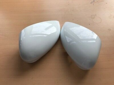 Ford Fiesta Mk7 2008-2018 Pair Door Wing Mirrors Cover Frozen White Left & Right