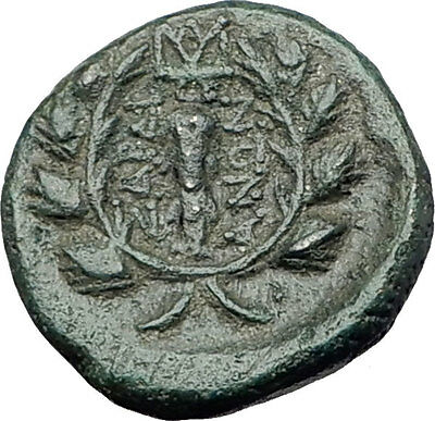 SARDES in Lydia 133BC Authentic Ancient Greek Coin APOLLO & HERCULES CLUB i61711