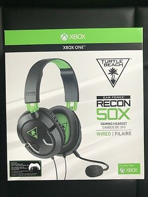 Turtle Beach Recon 50X Ear Force Gaming Headset For Xbox One (PC, Mobile)