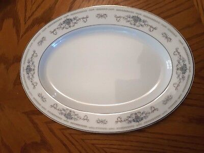 """Fine China of Japan """"DIANE"""" 12"""" Oval Serving Dish"""