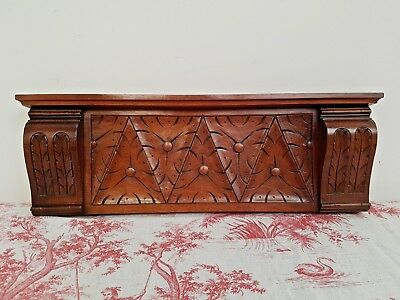 Antique French Crisply Carved Walnut Panel -  C1900