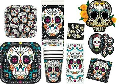 Halloween Sugar Skull Day Of The Dead Party Supplies Tableware Cello Bags
