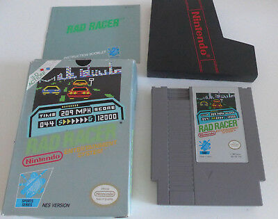Rad Racer Nintendo NES Game Complete Tested PAL