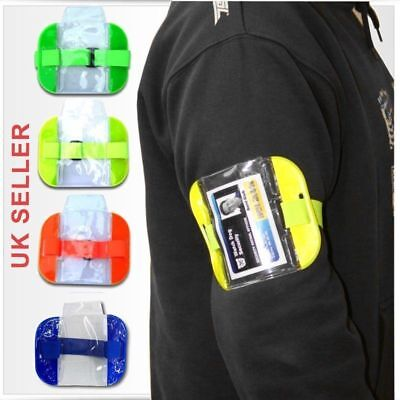 High Visibility Security Arm Band ID Badge Card Holder SIA Arm Band