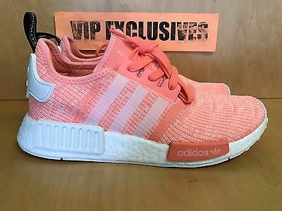 17bc552eb Adidas NMD R1 W Sun Glow White Bright Pink Orange Coral BY3034 Women s SZ 6-