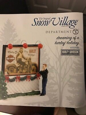 Department 56 Original Snow Village Dreaming of A Harley Holiday #4035928 NEW!
