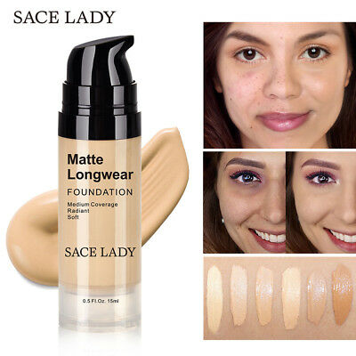HD High Cover Matte Finish Concealer Cream Face Brightening Foundation Base