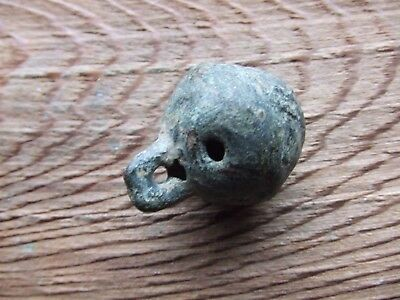 17th CENTURY BRITIAN.   BRONZE CROTAL BELL.  RINGING.    NICE CONDITION.