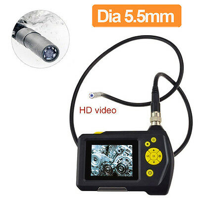 """2.7"""" LCD Display Dia 5.5mm Lens Inspection Camera 0.3MP VGA Endoscope 3M Cable"""