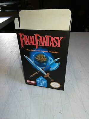 Final Fantasy NES Nintendo Replacement Box/Art Case !!! Complete your game!