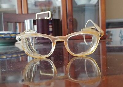 VINTAGE AO AMERICAN OPTICAL SAFETY GLASSES Goggles w/ side wire mesh protectors