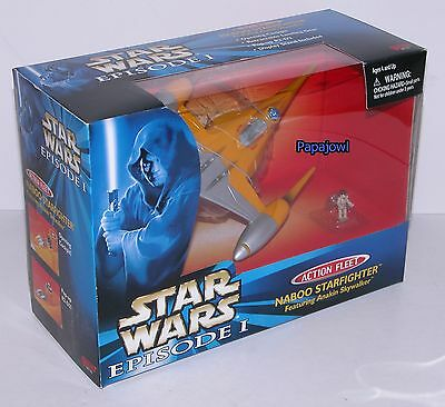 Galoob Star Wars Eposide 1 Action Fleet Naboo Starfighter Micro Anakin Skywalker