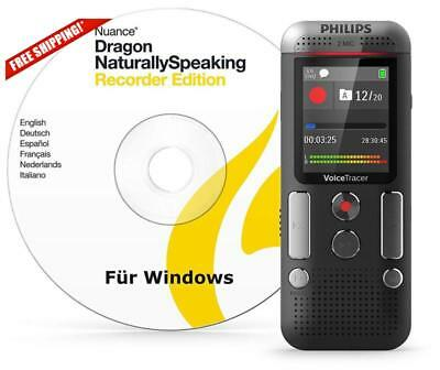 Philips Dvt2710 8Gb Voice Tracer Digital Recorder Mic Stereo/Speech Recognition