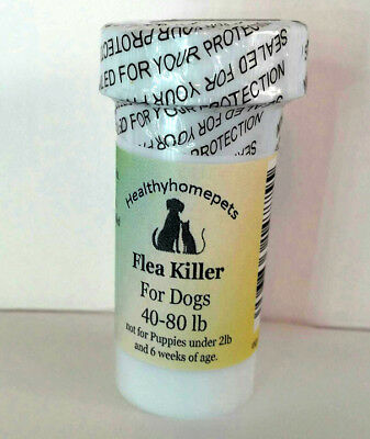 100 Capsules Instant Flea Killer Control Large Dogs 40-80lb super fast RESULTS!
