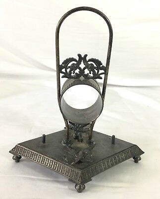 Antique Victorian Silverplate Napkin Holder Meridian Company