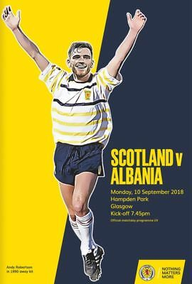 SCOTLAND v ALBANIA 10th SEPTEMBER 2018 OFFICIAL PROGRAMME