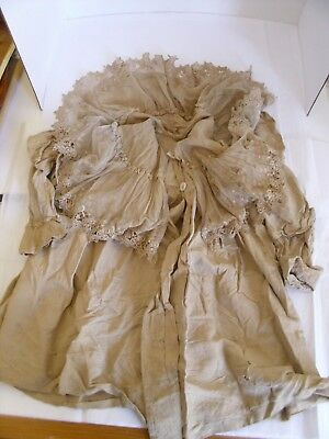 Victorian Child's Coat Silk Lace As Is Historical Interest Only