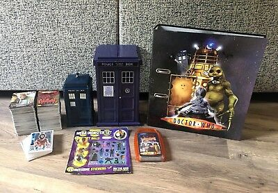 Large Doctor Who Card, Tardis & Folder Bundle- Includes 650 Cards- Foils + More