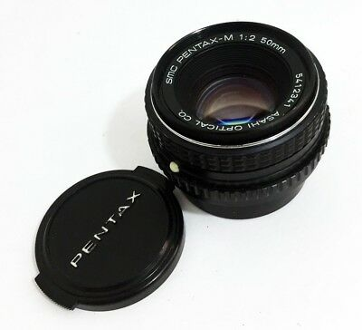 SMC PENTAX-M 50mm 1:2 Fast Prime Lens Asahi 5412341 Tested Works Clean Pentax