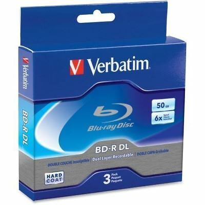 Verbatim BD-R DL 50GB 6X with Branded Surface - 3pk Jewel Case Box 97237