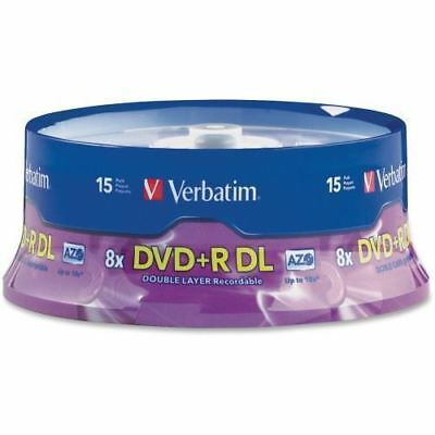 Verbatim 95484 DVD Recordable Media - DVD+R DL - 8x - 8.50 GB - 15 Pack Spindle