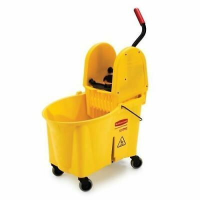 Rubbermaid WaveBrake Down Press Combo Mop Bucket 757788YEL