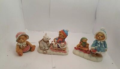 Cherished Teddies Lot of 3 - Julie July, Erica with Sleigh, Mary with Sleigh