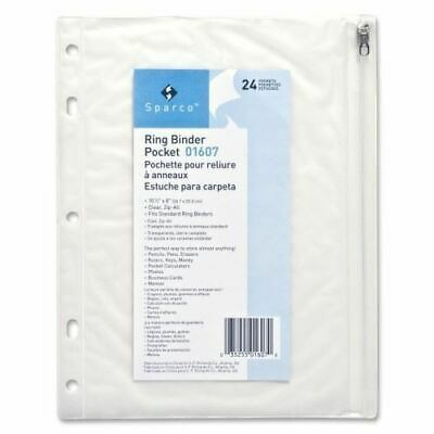 Sparco Hole Punched Ring Binder Pockets 01607