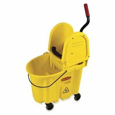 Rubbermaid Wavebreak Down Press/Wringer Mop Bucket FG757788YW