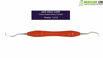 Silicon Coated Gracey Curette 11-12 Peridontal Dental Instrument Scaler
