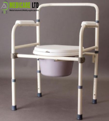 Durable Commode Chair Mobility Disability Aid