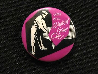 Jerry Lee Lewis Vintage Button Pin Badge Not Cd Lp Poster Uk Import