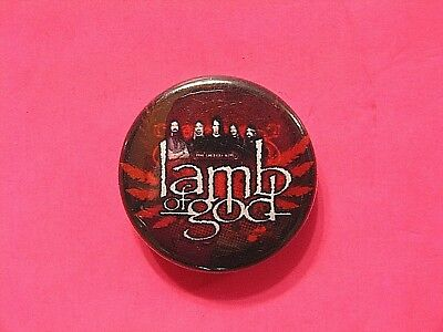 Lamb Of God New Button Badge Pin Not Patch Poster Shirt Lp Cd Uk Import