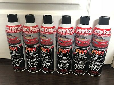 6 Cans Of Fw1 Waterless Detail Cleaner With Carnauba Wax Car Wash