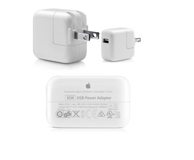 New OEM Original Genuine Apple iPhone & lpad power adapter USB wall Charger 10W