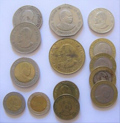 Mixed Lot of Cent & Shilling Coins From the Country of Kenya