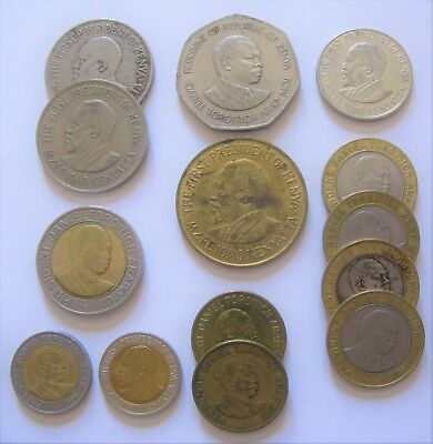 Mixed Lot of Shilling Coins From the Country of Kenya
