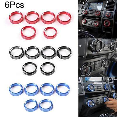 For Ford F150 2016-2018 Air Conditioner & Audio Switch Decor Ring Cover Trim