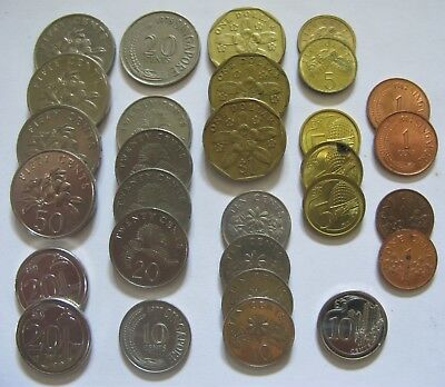 Lot of Mixed Coins From Singapore Includes Dollars & Cents