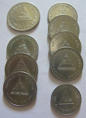 Mixed Lot of Coins From the Country of Nicaragua
