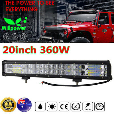 20inch CREE LED Light Bar 5D Spot Flood Offroad Car 4x4 Work Driving Bars 12/24V