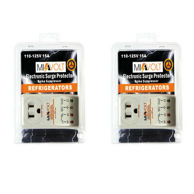 2 Pack  NEW Refrigerator 1800 Watts Voltage Brownout Appliance Surge Protector