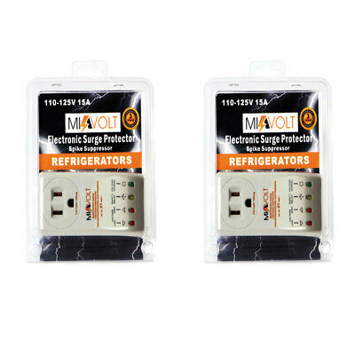 TWO-PACK Refrigerator 1800 Watts Voltage Brownout Appliance Surge Protector