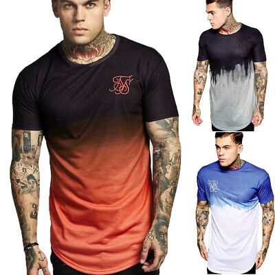Men's Slim Fit O Neck Short Sleeve Muscle Tee Shirts Casual T-shirt Tops Blouse#
