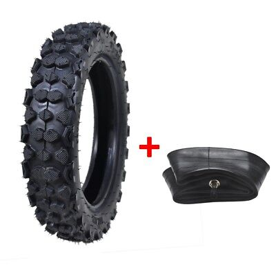 """80/100-10"""" 3.00- 10"""" Rear Knobby Tyre Tire & Tube Motorcycle Pit Dirt Bike Buggy"""
