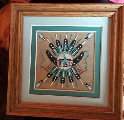 Authentic Native American Indian Sand Painting